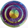 Glitz Sew-on Stone 10pcs Round 45mm Fuchsia Aurora Borealis